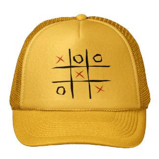 Tic tac toe game illustration T-Shirts Trucker Hat