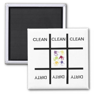 Tic Tac Toe Hands Clean Dirty Dishwasher Magnet