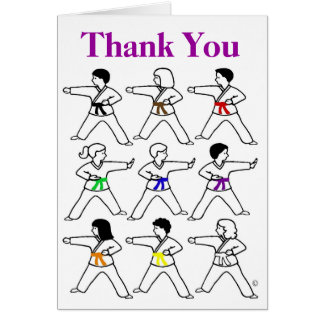Tic Tac Toe Kids Thank You Cards