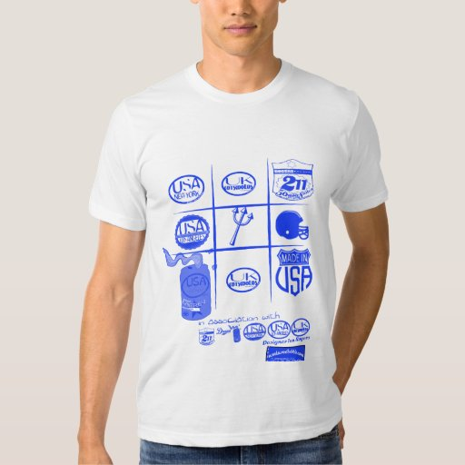 tic-tac-toe logos with usa and uk by rogers bros shirt