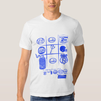 tic-tac-toe logos with usa and uk by rogers bros T-Shirt