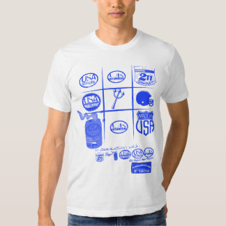 tic-tac-toe logos with usa and uk by rogers bros tee shirt