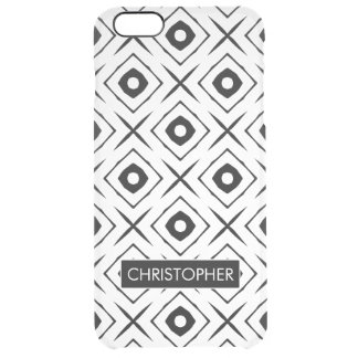 Tic Tac Toe pattern Clear iPhone 6 Plus Case