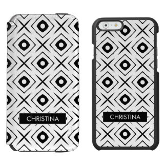 Tic Tac Toe pattern iPhone 6/6s Wallet Case