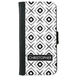 Tic Tac Toe pattern Wallet Phone Case For iPhone 6/6s