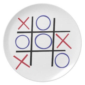 Tic Tac Toe Plates