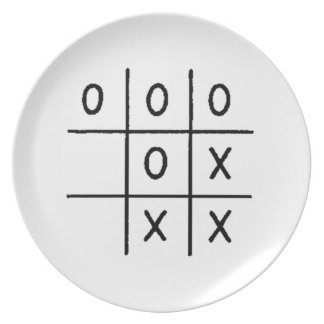 Tic-Tac-Toe Plates