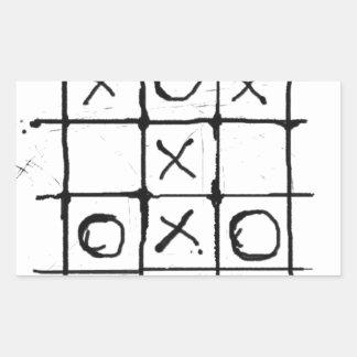 Tic tac toe rectangular stickers