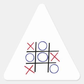 Tic Tac Toe Triangle Sticker