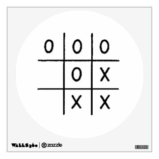 Tic-Tac-Toe Wall Decal