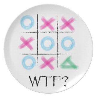 Tic Tac Toe - WTF Plate