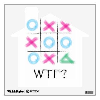 Tic Tac Toe - WTF Wall Sticker
