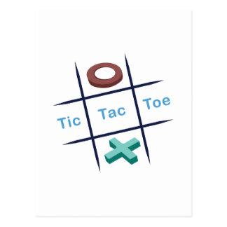 Tic Tac Toe Xox Post Cards
