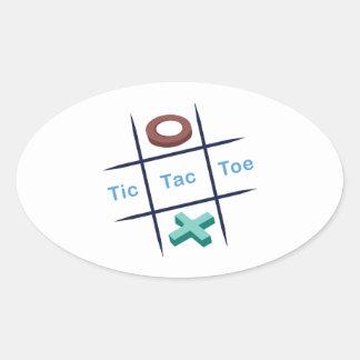 Tic Tac Toe Xox Oval Sticker
