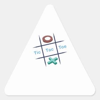 Tic Tac Toe Xox Triangle Stickers