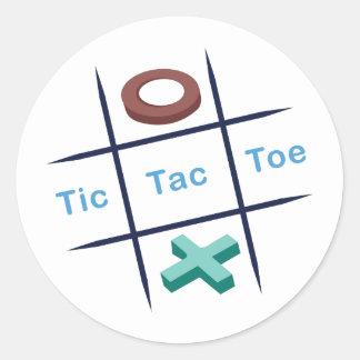 Tic Tac Toe Xox Round Sticker