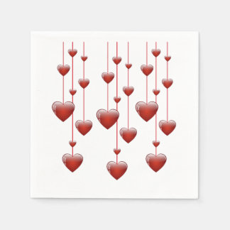 Tic Toc Valentine's Day Napkins