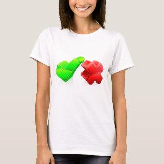 Tick and cross concept T-Shirt