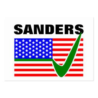 Tick Bernie Sanders for President 2016 Large Business Card