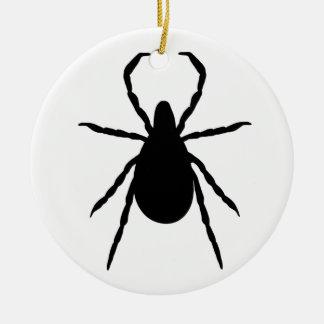 Tick Ceramic Ornament
