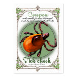 Tick Check Coupon, business card size