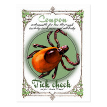 Tick Check Coupon, postcard size