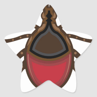 Tick insect star sticker