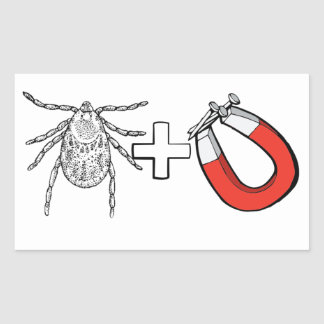 Tick Magnet Rectangular Sticker