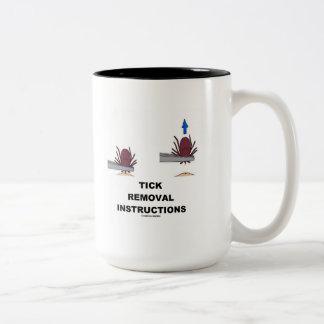Tick Removal Instructions (Illustration) Two-Tone Coffee Mug