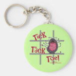 Tick Tack Toe! Basic Round Button Keychain
