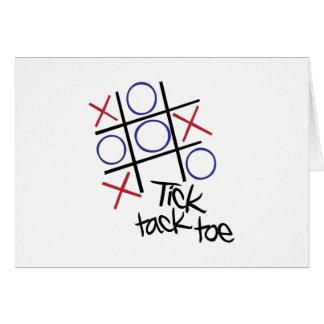 Tick Tack Toe Greeting Card