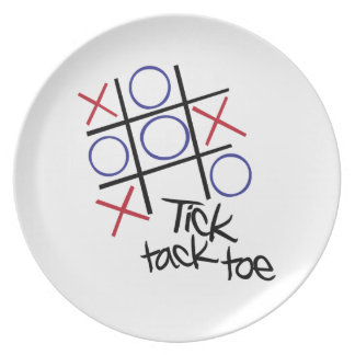 Tick Tack Toe Party Plate
