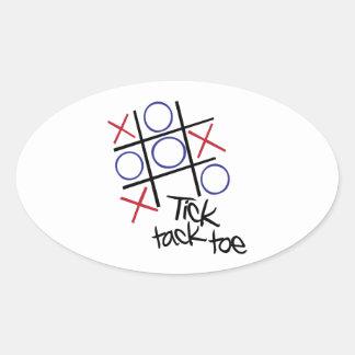 Tick Tack Toe Oval Stickers