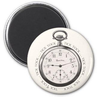 Tick Tock 2 Inch Round Magnet