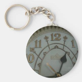 Tick Tock Basic Round Button Keychain