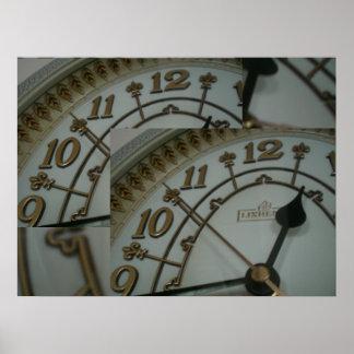 Tick Tock Clock display Poster