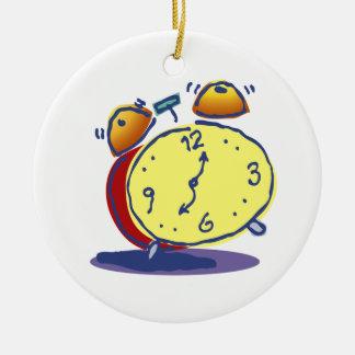 Tick Tock Retro Alarm Clock Ceramic Ornament
