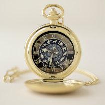 Tick Tock Skull Pocket Watch