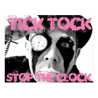 Tick Tock, Stop The Clock Postcard