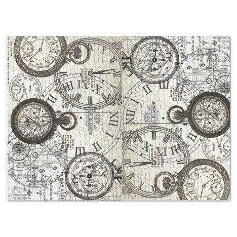 Tick Tock Tissue Paper