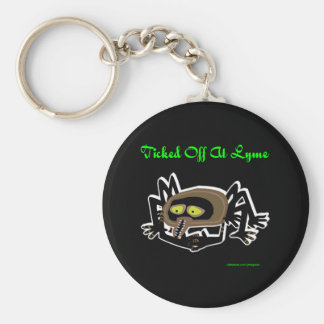 TICKED OFF AT LYME BASIC ROUND BUTTON KEYCHAIN