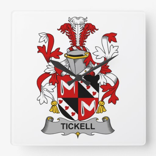 Tickell Family Crest Wall Clock