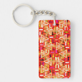 Ticker Tape Parade Midcentury Modern Abstract Keychain