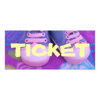 TICKET Baby's ONE First Birthday Party Invitations