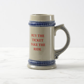 TICKET BEER STEIN