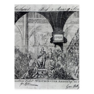 Ticket for the Coronation of George III Postcard