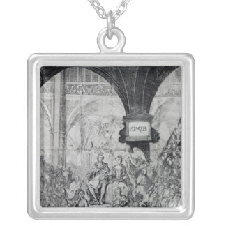Ticket for the Coronation of George III Silver Plated Necklace