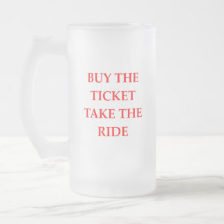 TICKET FROSTED GLASS BEER MUG