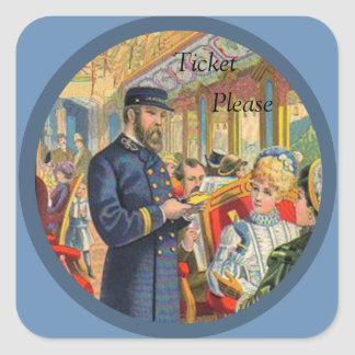 Ticket Please Train Stickers