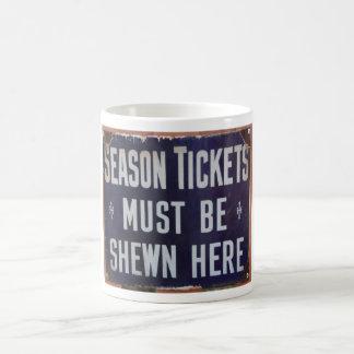 ticket sign Chinnor Station Oxfordshire UK Coffee Mug